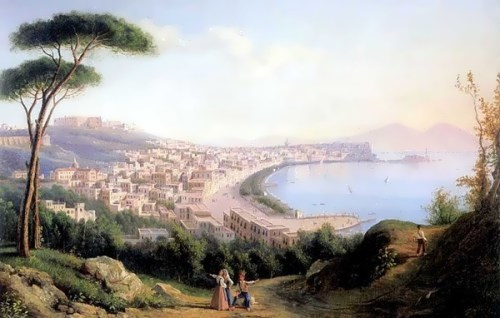 View of Naples from the road in Pozilippo
