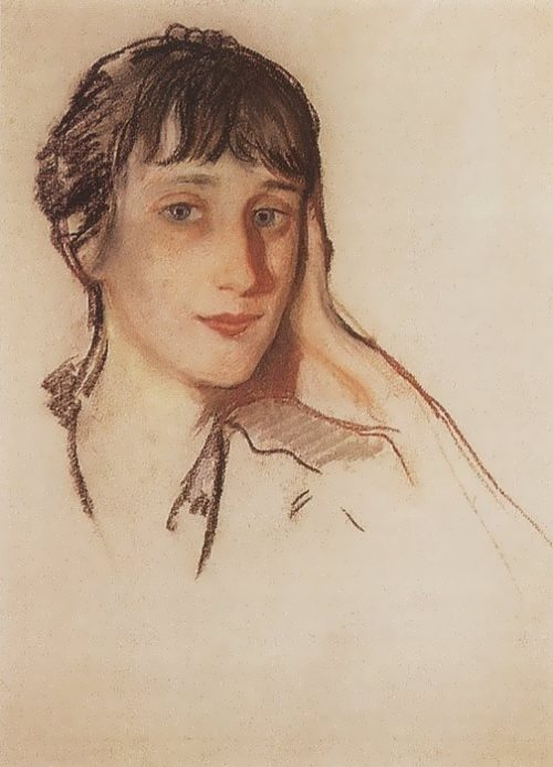 Portrait of A.A. Akhmatova, 1922