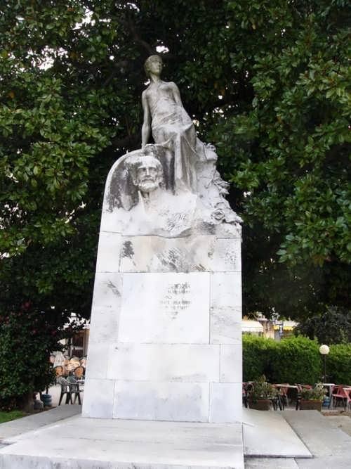 Monument to Italian politician Carlo Cadorna, in Verbania-Pallanza