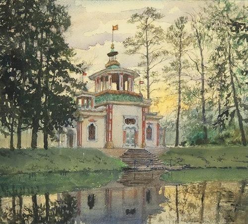 Chinese Pavilion in Tsarskoye Selo Alexander Benois