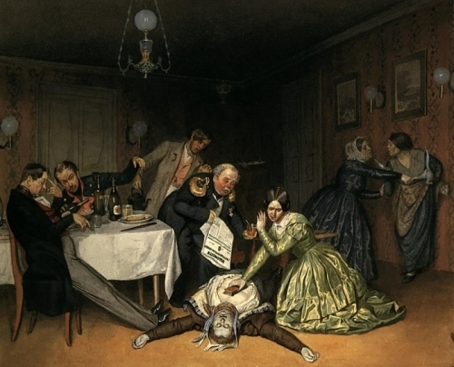 It is Cholera to Blame, 1848