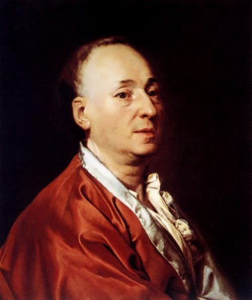 Portrait of Denis Diderot Dmitry Levitsky