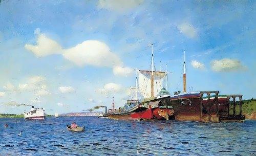 Fresh breeze. Volga, 1895