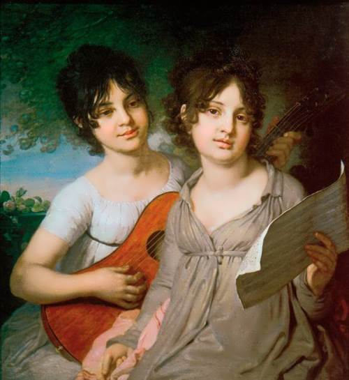 Portrait of Princess Anna Gavriilovna Gagarina and Princess Varvara Gavriilovna Gagarina, 1802