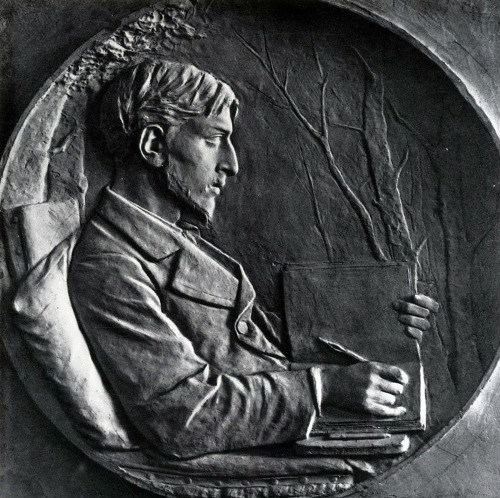 Bas-relief for tombstone of M.G. Ginzburg, 1878