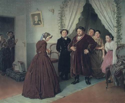 The Arrival of a Governess to a Merchant's Home Vasily Perov