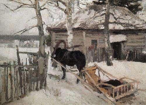 In winter Konstantin Korovin