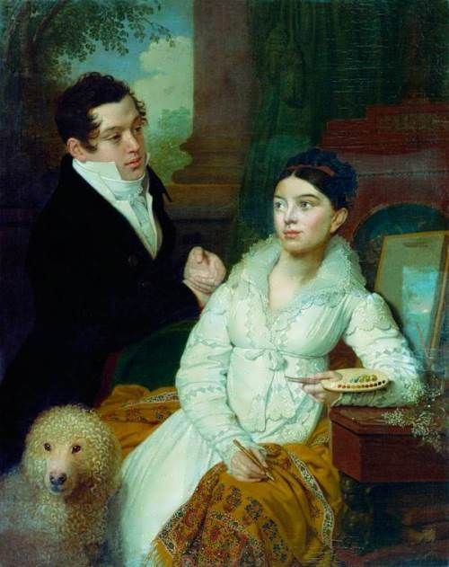 Portrait of the Lobanov-Rostovskys, 1814