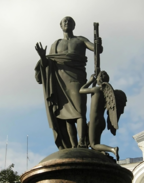 Monument to Lomonosov, 1826-1829