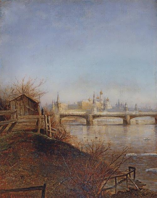 View of the Moscow Kremlin. Spring, 1873