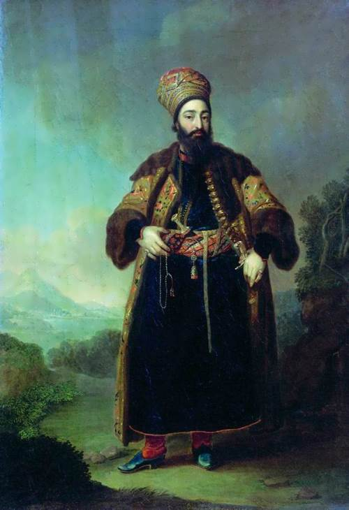 Portrait of the Persian Prince Murtaza-Kouli-Khan, 1796