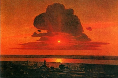 Red sunset, 1905-1908