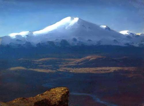 Snowy peaks, 1890-1895