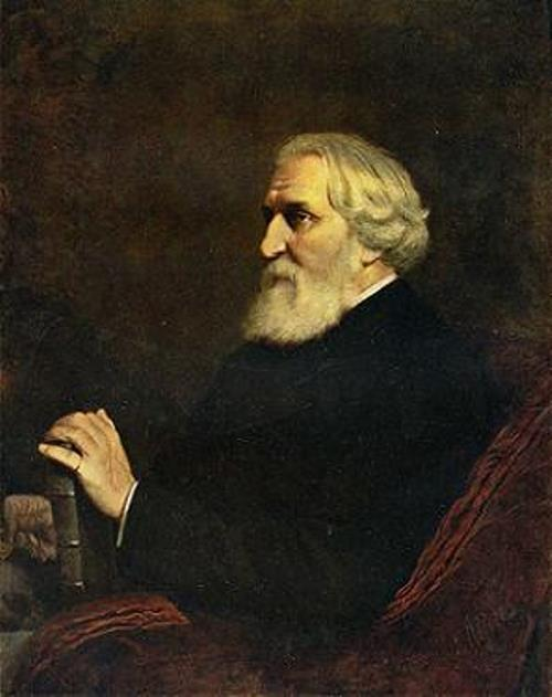 Perov. Portrait of I. Turgenev