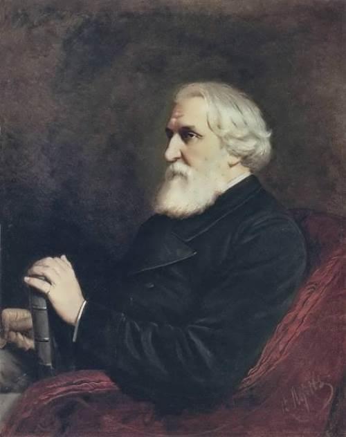 Portrait of writer Ivan Turgenev, 1872