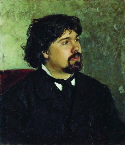 Portrait of the artist Vasily Surikov, 1877