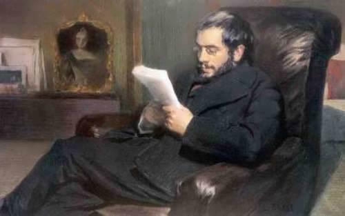 L. S. Bakst. Portrait of Alexander Benois, 1898