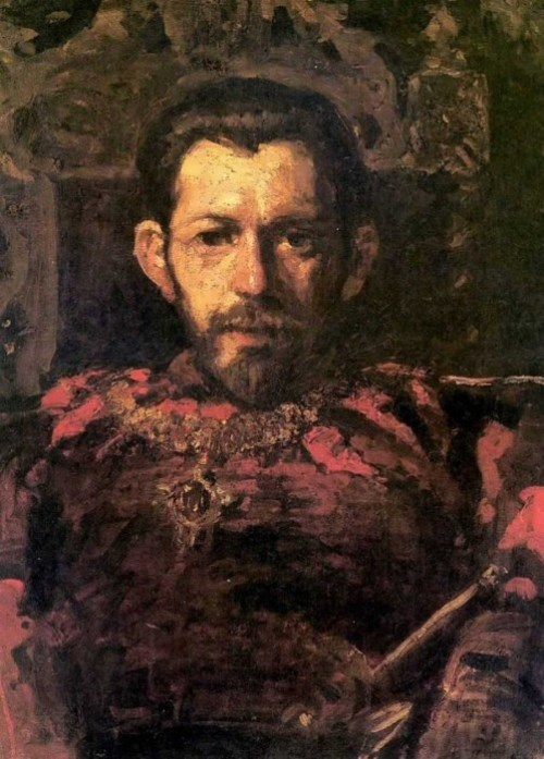 Portrait of Mamontov in the theater
