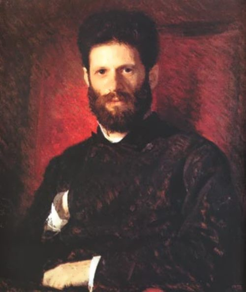 I.N. Kramskoy. Portrait of the sculptor M. Antokolsky. 1876