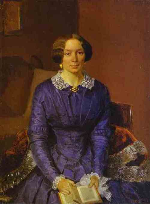 Portrait of M. Krylova. 1851