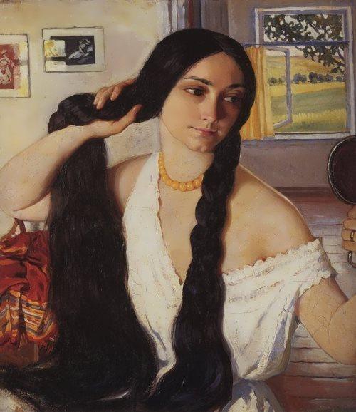 Portrait of Olga Konstantinovna Lansere, 1910