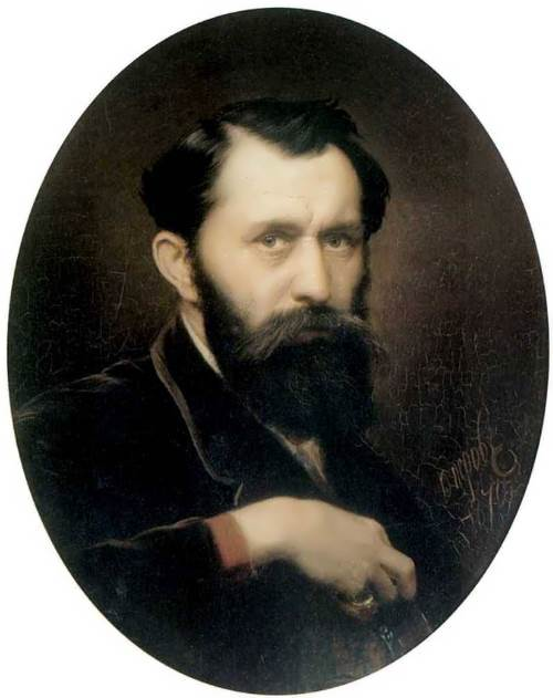 Vasily Perov. Self-portrait, 1870
