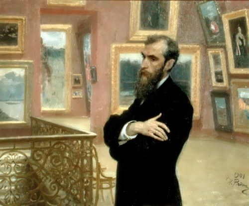 Repin. Portrait of P. Tretyakov, 1901