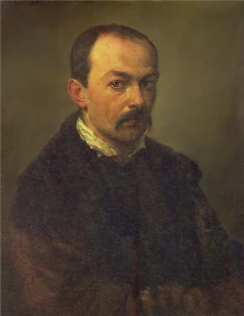Pavel Fedotov. Self-portrait, 1848