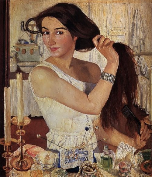 Zinaida Serebryakova. Self-portrait At the Dressing-Table, 1909