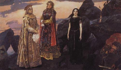 Three princess of the underworld. 1884