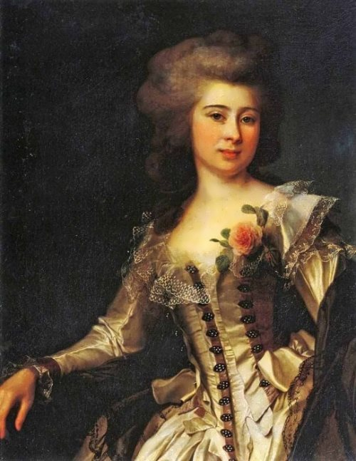 Portrait of an unknown girl with Rose Dmitry Levitsky