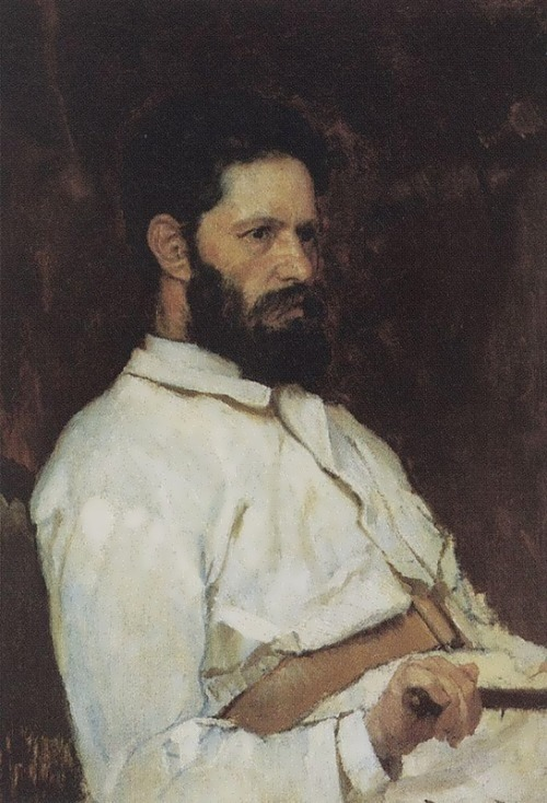 Vasnetsov. Portrait of Mark Matveevich Antokolsky. 1884