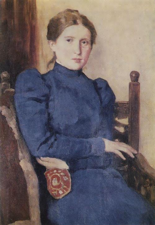 Portrait of Tatyana Vasnetsova, the artist's daughter. 1901