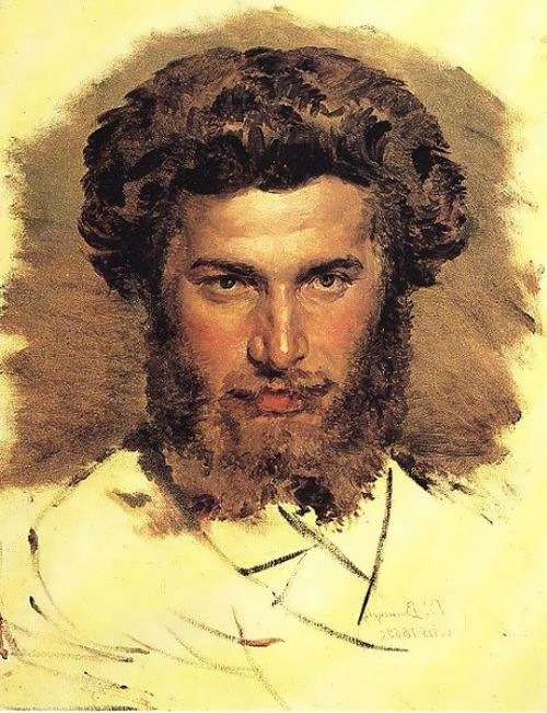Vasnetsov. Portrait of the artist Arkhip Kuinji, 1869