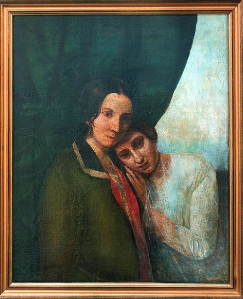 Two Elenas (Elena Hahn and Elena Blavatskaya), 1844-1845. According to one version, the picture was painted by Madame Blavatsky