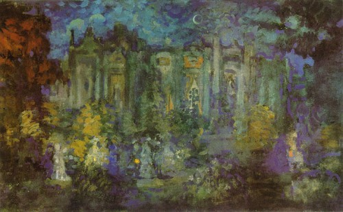 Night celebration, 1909