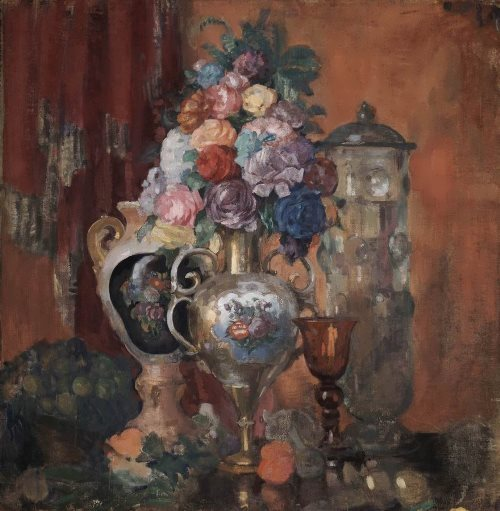 Vases and flowers, 1910