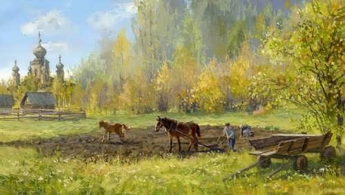 Russian village by V. Zhdanov