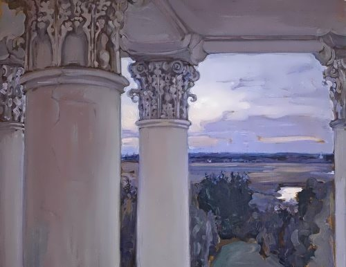 From the window of the old house. Vvedenskoe, 1897
