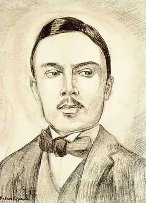 P.V. Kuznetsov. Portrait of Nikolai Sapunov. 1914-1915. State Tretyakov Gallery
