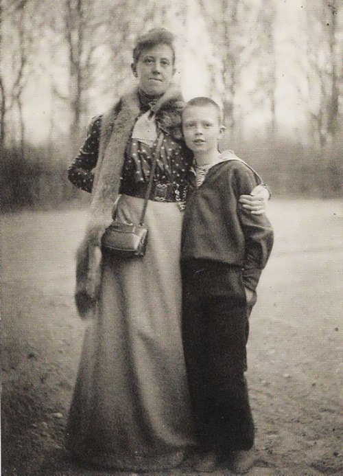 Marianna and her nephew Alexander, Lithuania, 1914