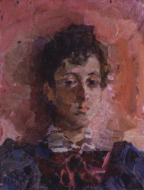 Mikhail Vrubel. Portrait of M.V. Yakunchikova, 1886-1889