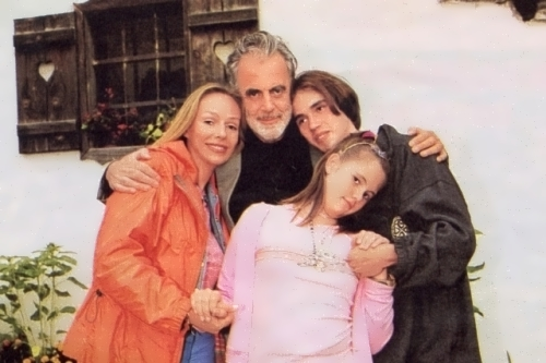 Natalia Andreichenko, Maximilian Schell, their daughter and son from her first marriage