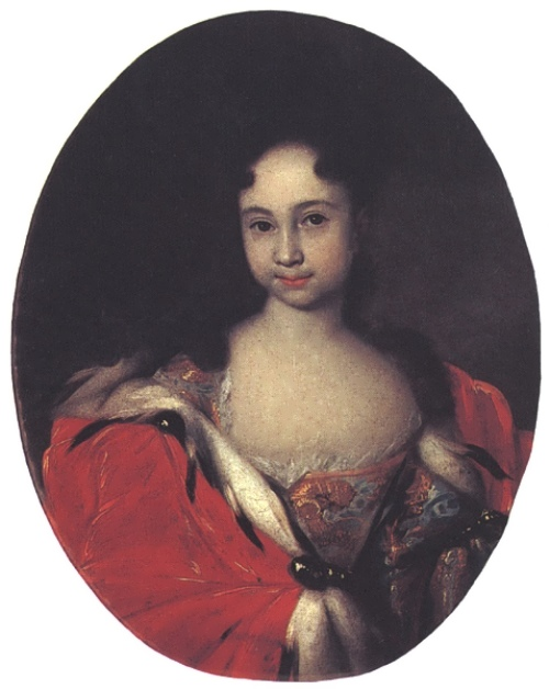 Portrait of a crown princess Anna Petrovna, no later than 1716