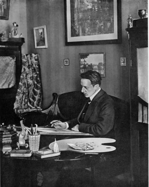 M. Dobuzhinsky, 1908