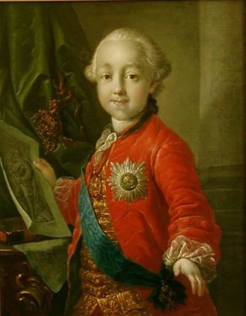 Portrait of Grand Duke Paul Petrovich in childhood, 1763