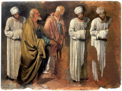 Group of apostles. Sketch, 1840