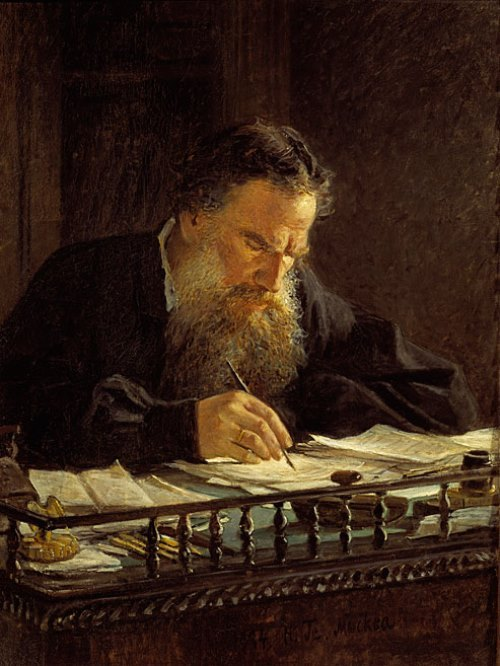 Portrait of Lev Tolstoy, 1884