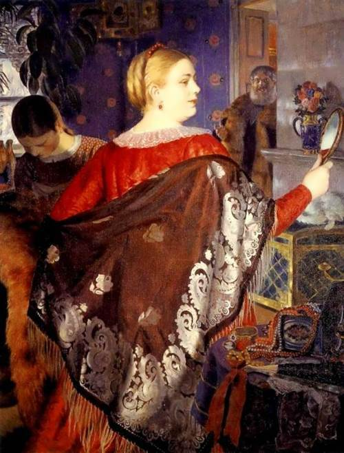 Merchant's Wife with mirror, 1918
