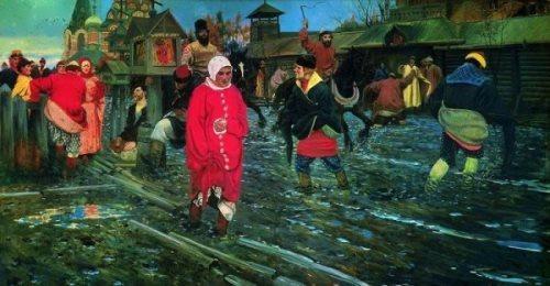 Moscow Street in the Seventeenth Century Andrei Ryabushkin